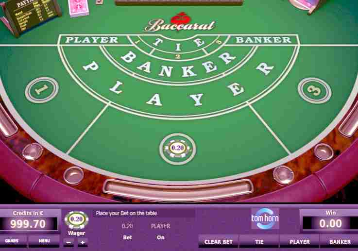 Free baccarat game rules